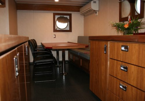 JT Marine Tug Boat Kitchen Dining Room Remodel by Shellback Interiors