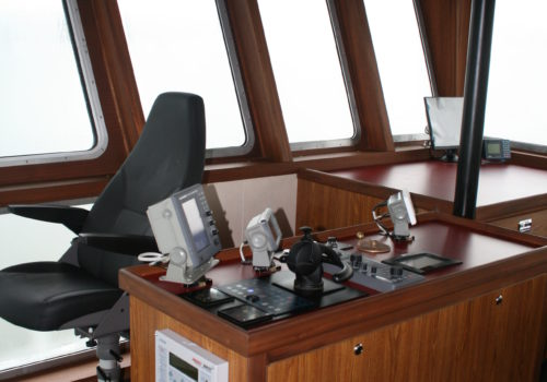 JT Marine Tug Boat Pilot House Remodel by Shellback Interiors