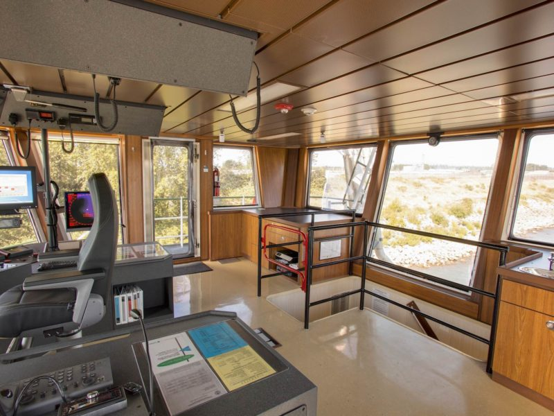 Tidewater Crown Point Tug Boat New Pilot House Interior by Shellback Interiors