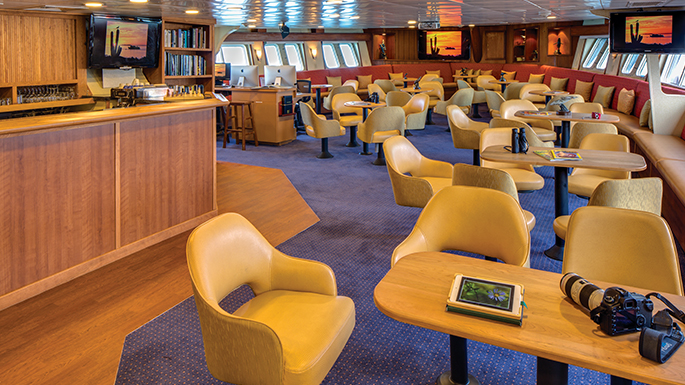 Ship Lounge Remodel of Lindblad Sea Bird by Shellback Interiors