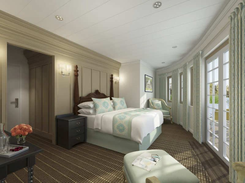 MV Louisiane Riverboat Richelieu Suite Remodel by Shellback Interiors