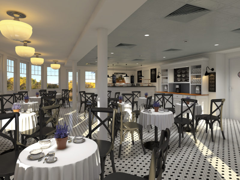 MV Louisiane Riverboat Veranda and Café Remodel by Shellback Interiors